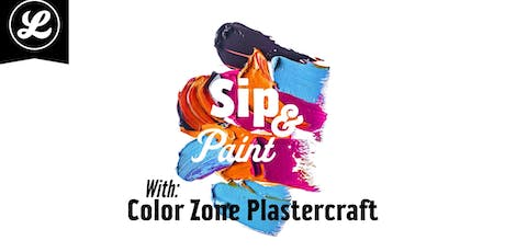 Sip & Paint with Color Zone Plastercraft tickets