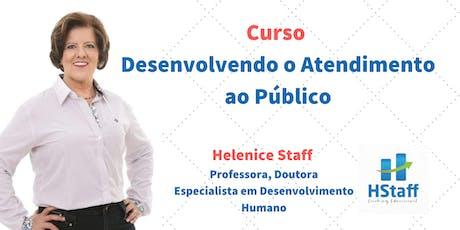 Curso Desenvolvendo o Atendimento ao Público ingressos
