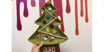 paint & create your own tree platter