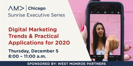 Digital Marketing Trends & Practical Applications for 2020 - Sunrise Series – December 2019 tickets