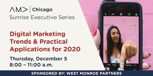 Digital Marketing Trends & Practical Applications for 2020 - Sunrise Series – December 2019