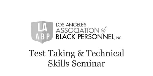 Test Taking and Technical Skills Seminar