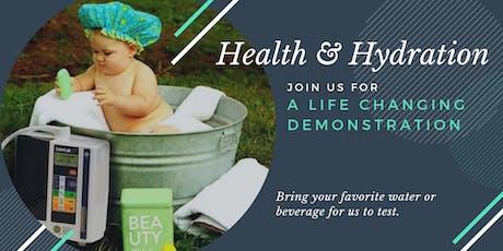Health & Hydration Water Demo tickets