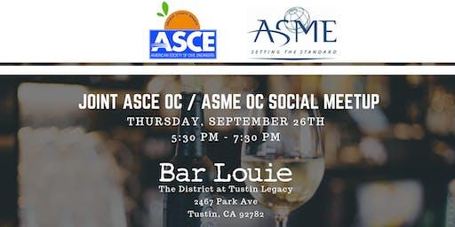 Joint ASCE OC/ASME OC Social Meetup