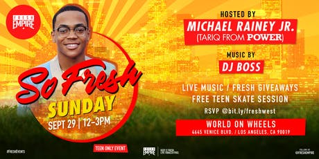 So Fresh Sunday Free Skate POWER edition hosted by Michael Rainey Jr. tickets