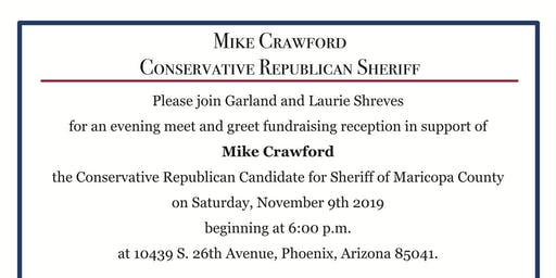 Meet & Greet Fundraiser for Mike Crawford for Sheriff