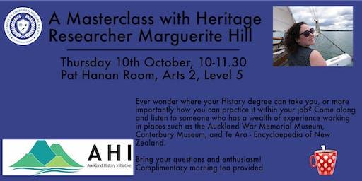UoA History Society & Auckland History Initiative Masterclass