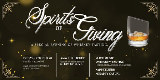 Spirits of Giving: A Special Evening of Whiskey Tasting