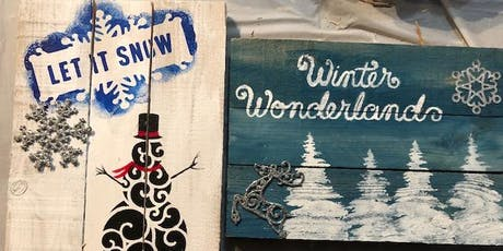 Winter Pallet Painting Class with Dawn Spruill tickets