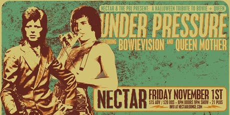 """UNDER PRESSURE"" feat BOWIEVISION and Queen Mother tickets"