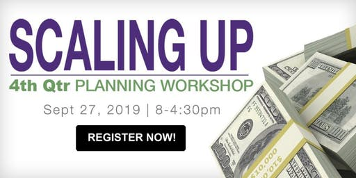 4th Qtr Scaling Up Planning Workshop: Cash