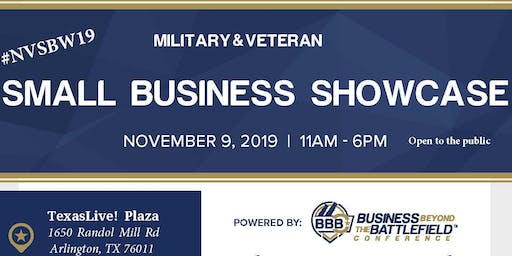 #NVSBW19 Military and Veteran Small Business Showcase