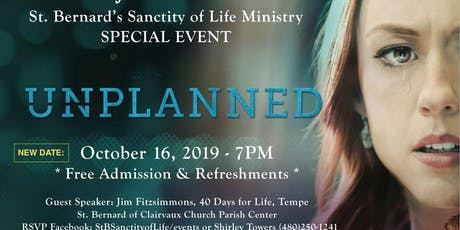 Date Change: 'Unplanned' (Movie) - Sanctity of Life Event tickets