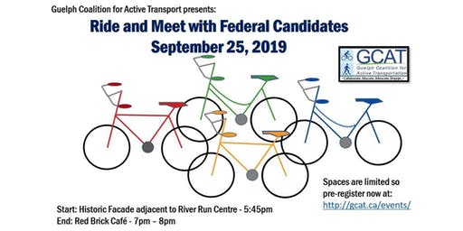 Ride and Meet with Guelph Federal Candidates