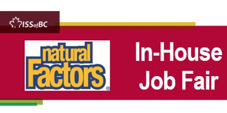 Natural Factors In-House Job Fair tickets