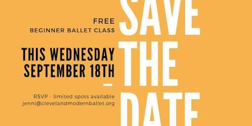 Free Beginner Ballet Class