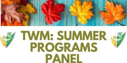 Together We Mentor (TWM): Summer Programs Panel