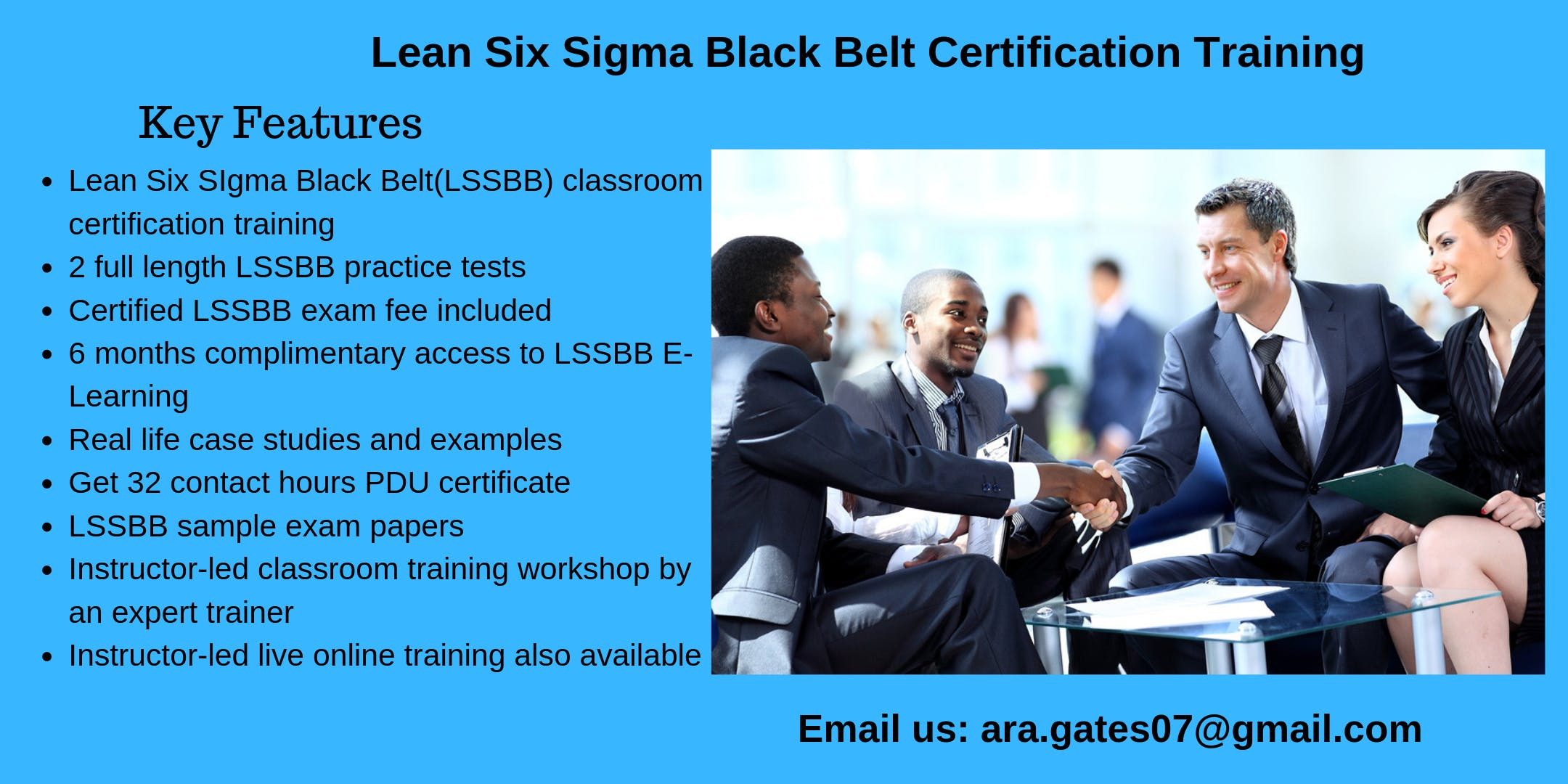 Lean Six Sigma Black Belt (LSSBB) Certification Course in Mesa, AZ