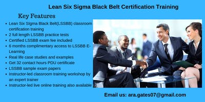 Lean Six Sigma Black Belt (LSSBB) Certification Course in Middletown, CT