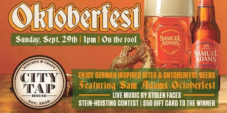 Oktoberfest on the Rooftop at City Tap tickets