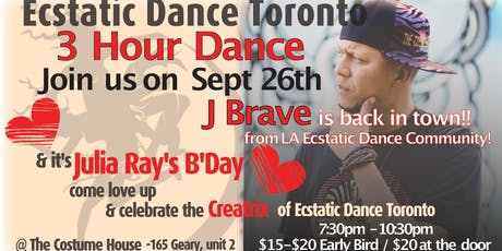 Ecstatic Dance Toronto - J Brave 3 HR Dance tickets