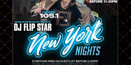 NEW YORK NIGHT'S DJ FLIPSTAR LIVE FROM NEW YORK CITY tickets