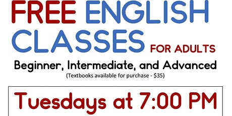 Free English Classes for Adults Beginner, Intermediate, and Advanced Levels tickets