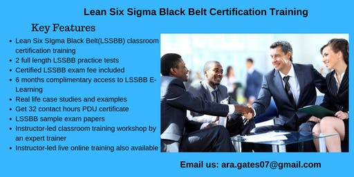 Lean Six Sigma Black Belt (LSSBB) Certification Course in Montpelier, VT