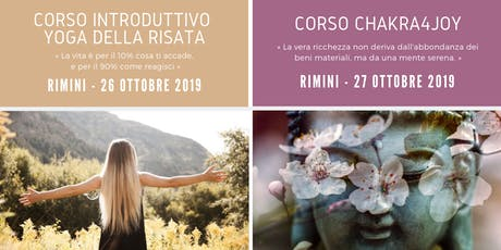 Pacchetto Weekend Promo - Corso Introduttivo Yoga della Risata + Chakra4Joy biglietti