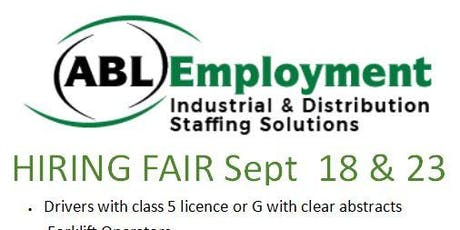 ABL Employment Hiring Fair tickets