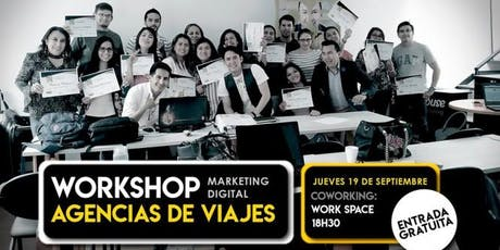 Workshop Marketing Digital para Agencias de Viajes entradas