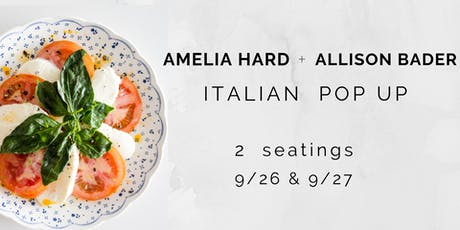 Italian Pop-Up, Thursday Dinner  tickets
