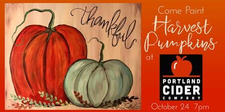 Paint & Pint 'Harvest Pumpkins' at Portland Cider Co October 24 tickets