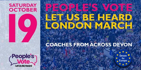 Let Us Be Heard March - Coaches to London October 19  tickets