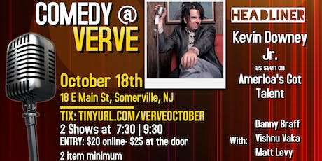 Comedy at Verve on October 18th tickets