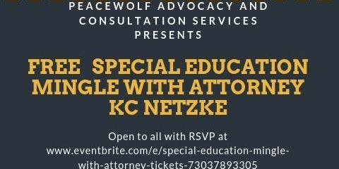 Special Education Mingle with Attorney