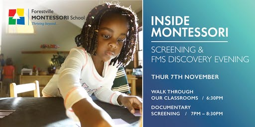 INSIDE MONTESSORI Screening & FMS Discovery Evening