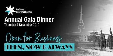 Canberra Business Chamber Annual Gala Dinner 2019 tickets