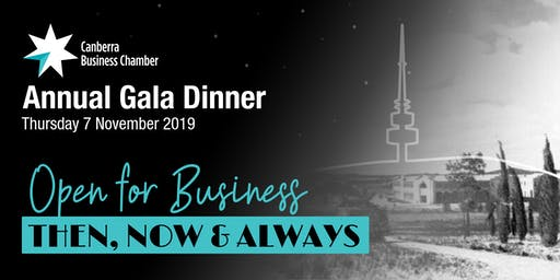 Canberra Business Chamber Annual Gala Dinner 2019