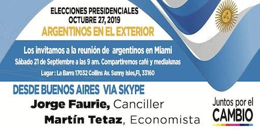 Elecciones Presidenciales Argentina organizada por Argentinos en Miami.