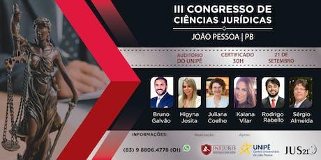 III Congresso de Ciências Jurídicas - JOÃO PESSOA ingressos