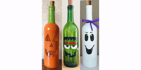 Halloween Trio Wine Bottle Decor: Sip and Paint at Magnanini Winery!!!! tickets