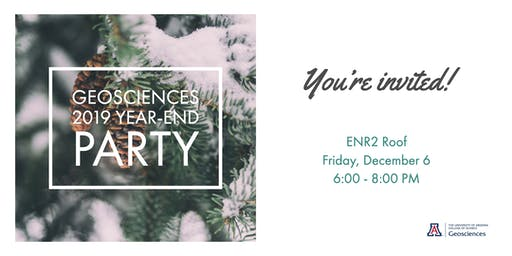 UA Geosciences Year-End Party