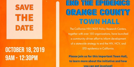 End the Epidemics Orange County Town Hall