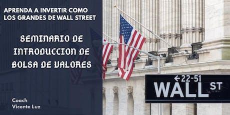 Mexico! Seminario de Bolsa de Valores de USA. tickets