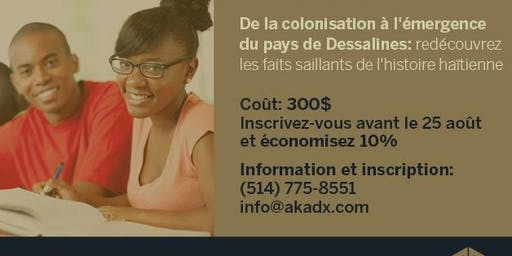 Cours d'histoire d'Haïti en 9 leçons AUT2019