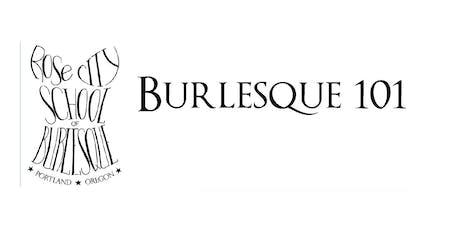 Burlesque 101 Winter 2019 Enrollment tickets