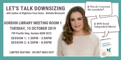 DOWNSIZING & DECLUTTERING INFORMATION SESSIONS