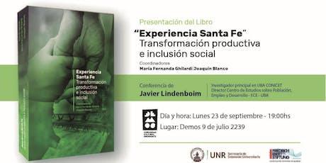 Presentación del libro Experiencia Santa Fe - Ciudad de Santa Fe entradas