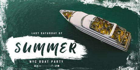 Last Saturday of Summer Boat Party Yacht Cruise NYC- 90% SOLD OUT tickets
